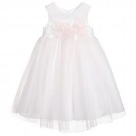 Suknelė žvilgančio tiulio su bantu