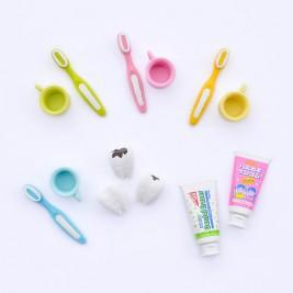 Trintukas-dėlionė Dantų šepetėlis-pasta-dantukai