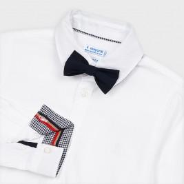 Marškiniai berniukui balti su peteliške
