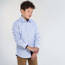 Marškiniai berniukui paaugliui šviesiai mėlyni