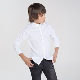 Marškiniai berniukui paaugliui balti