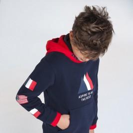 Džemperis berniukui mėlyna/raudona