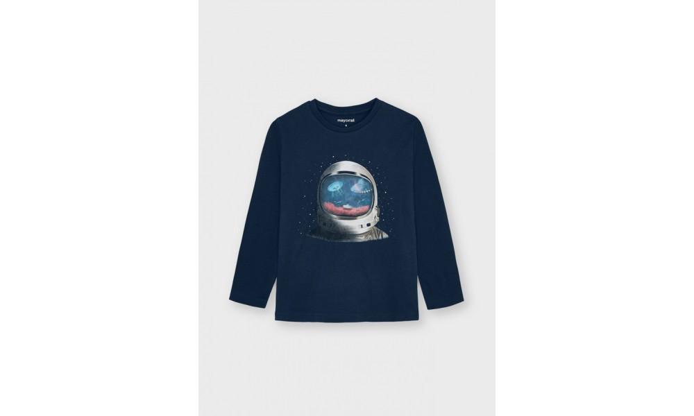 Marškinėliai berniukui su Astronauto holografija