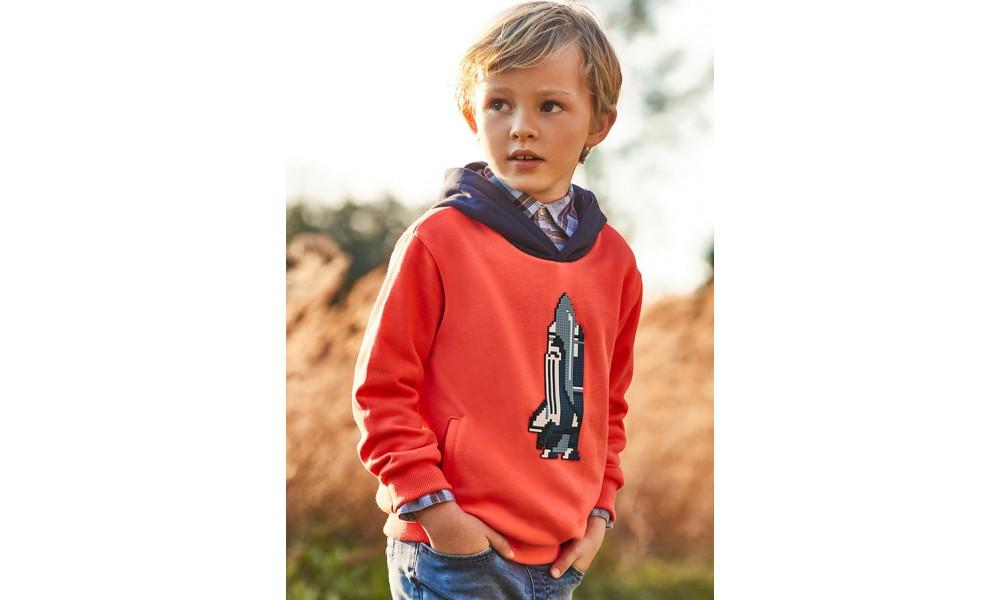 Džemperis berniukui oranžinis