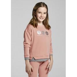 Džemperis rožinis paauglei mergaitei