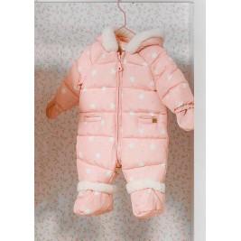 Kombinezonas kūdikiui mergaitei rožinis žiemai