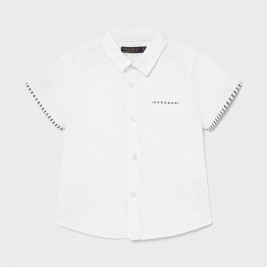 Marškiniai berniukui kūdikiui trumpomis rankovėmis