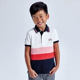 Polo marškinėliai berniukui spalvoti