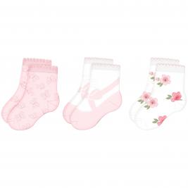 Kojinių rožinis komplektas kūdikiams