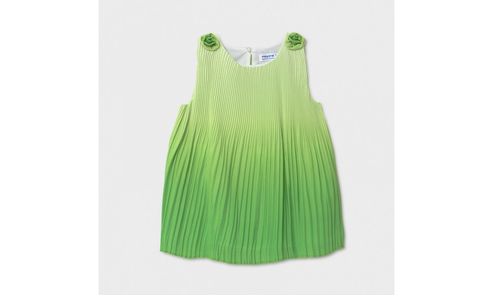 Suknelė kūdikiui žalios spalvos