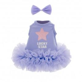 Drabužiai lėlei - Violetinė suknelė