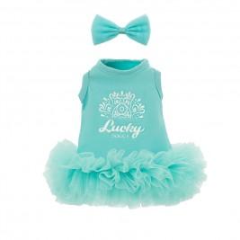 Drabužiai lėlei - Mėtinė suknelė