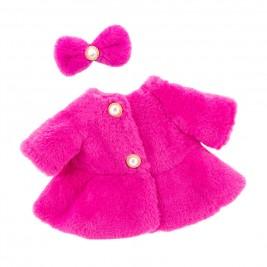 Drabužiai lėlei - Kailiniai rožiniai