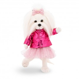 Pliušinis žaislas Laimingoji Mimi rožine striuke