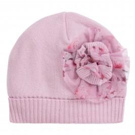 Kepurė rožinė su gėle