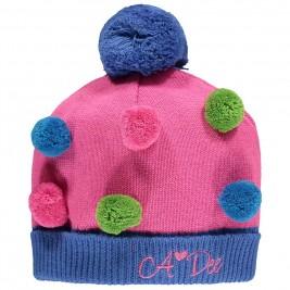 Kepurė su spalvotais pom pom