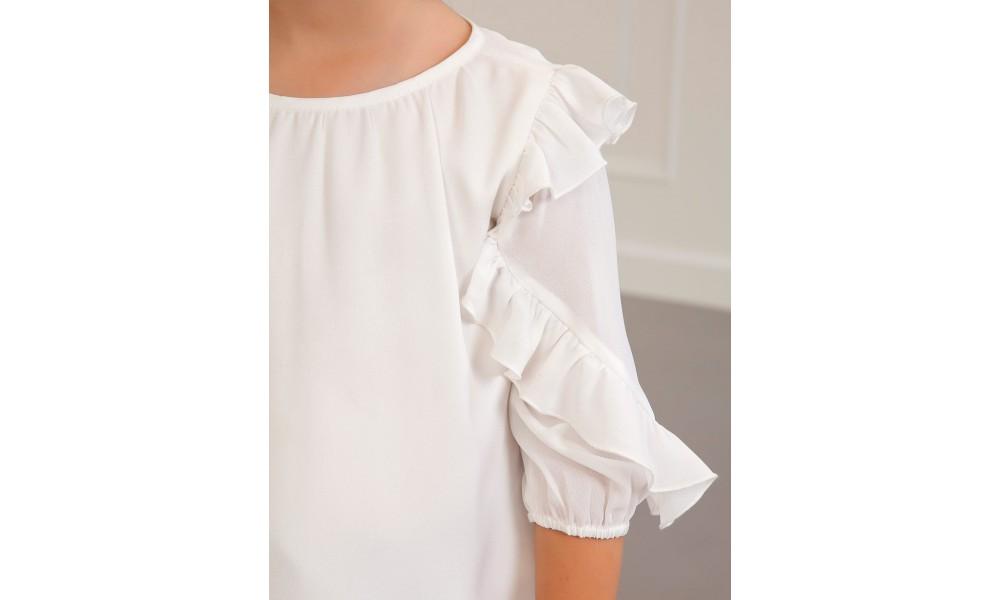 Palaidinė ilgomis rankovėmis baltos spalvos