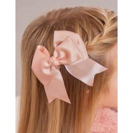 Plaukų segtukas - dvigubas rožinis bantukas