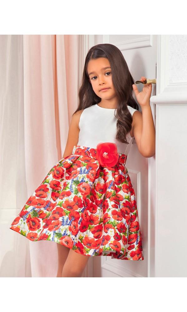 Suknelė su aguonomis