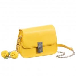 Rankinukas Abel&Lula odinis geltonos spalvos