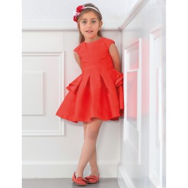 Suknelė pūsta meliono spalvos