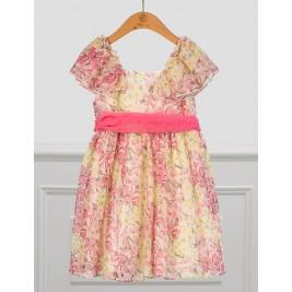 Suknelė Abel&Lula geltono ir rožinio šifono