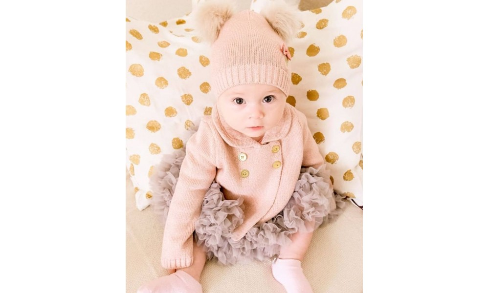 Megztukas kūdikiui Emily Blush Pink