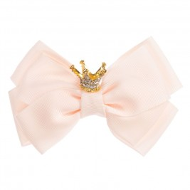 Plaukų segtukas Crown Big Bow Ballet pink