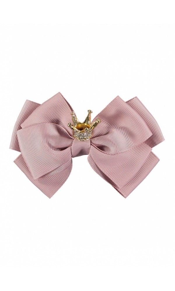 Plaukų segtukas Crown Big Bow Tea Rose