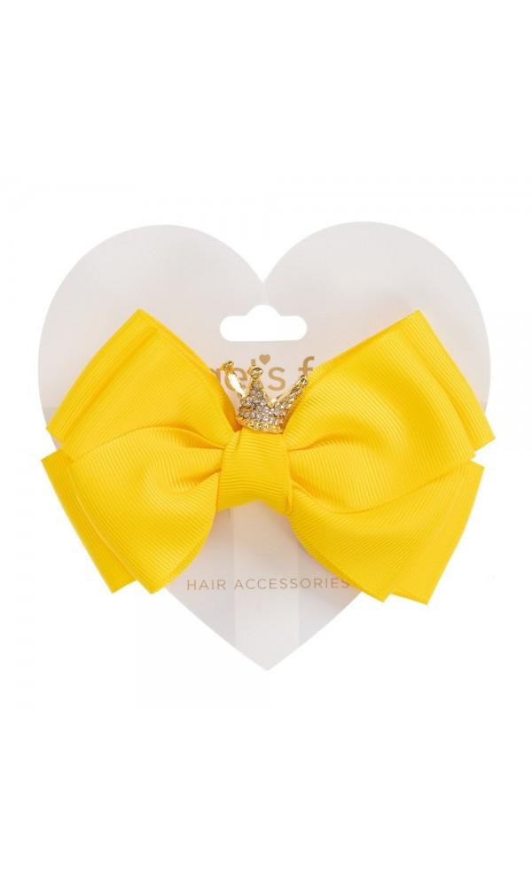 Plaukų segtukas Crown Big Bow Daffodil yellow
