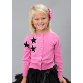 Megztukas Bright Pink Star Cardi