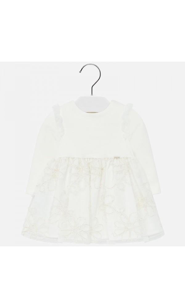 Suknelė krikštynoms balta