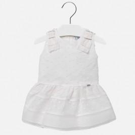 Suknelė kūdikiui baltos spalvos