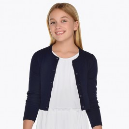 Megztukas Basic knitted cardigan navy