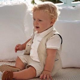 Šortai berniukui kūdikiui smėlio spalvos