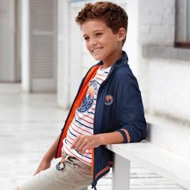 Striukė berniukui dvipusė mėlyna - oranžinė