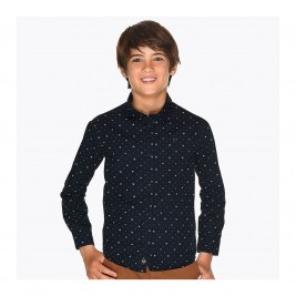 Marškiniai berniukui mėlyni ilgomis rankovėmis