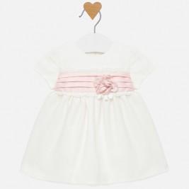 Suknelė kūdikiui balta/rožinė