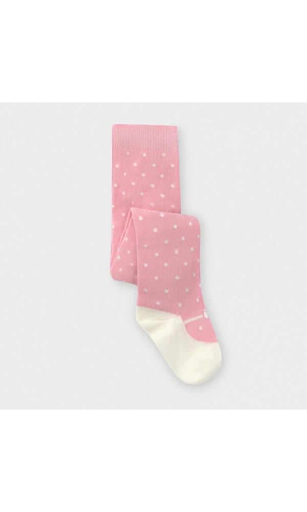 Pėdkelnės kūdikiui taškuotos rožinės