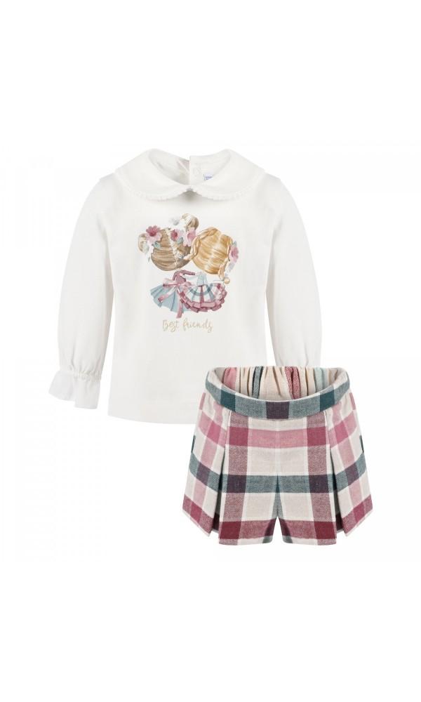 Šortų ir marškinėlių derinys kūdikiui mergaitei