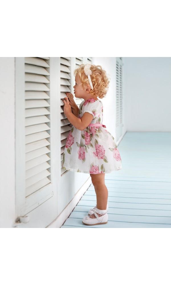 Suknelė kūdikiui gėlėta