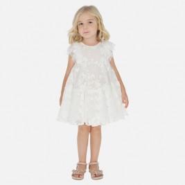 Suknelė siuvinėto balto tiulio