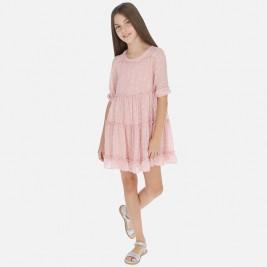 Suknelė 3/4 rankovėmis rožinė