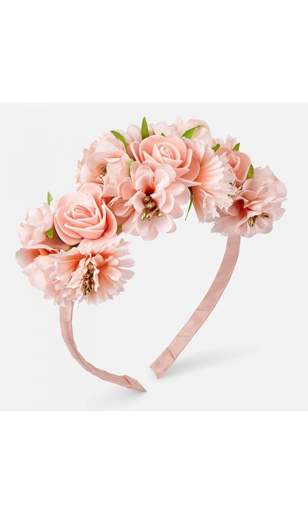 Lankelis su gėlėmis persikų spalvos