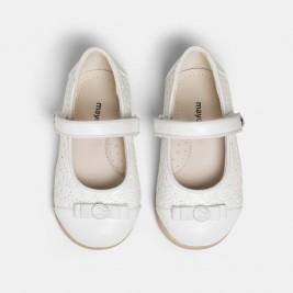 Batukai kūdikiui šventiniai balti Mary Jane