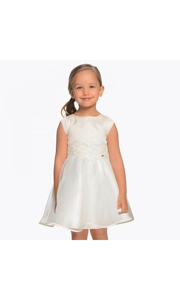 Suknelė balta berankovė