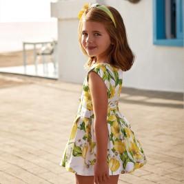 Suknelė gėlėta geltona