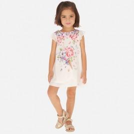 Suknelė balto šifono mergaitei