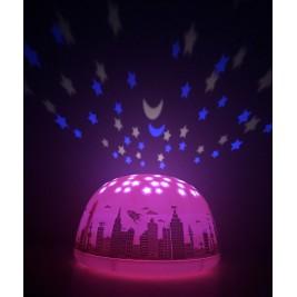 """Lempa - projektorius """"Miesto žvaigždės"""" rožinė"""