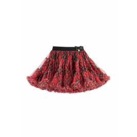 Sijonas tutu Nancy tartan red